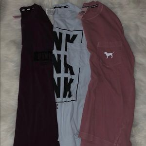 Bundle of 3 VS Pink long sleeve t-shirts